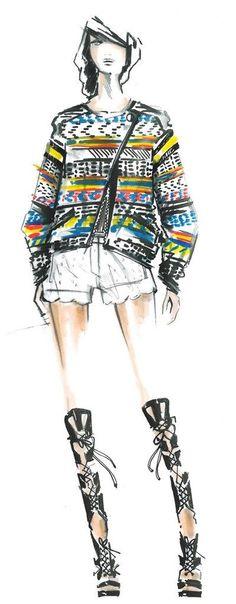Modeconnect.com - Fashion Illustration of Rebecca Minkoff: