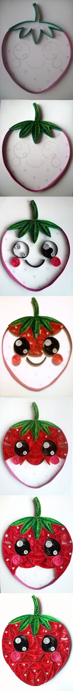 Quilling - Strawberry (step by step) by RzymonZPapieru.deviantart.com on @DeviantArt