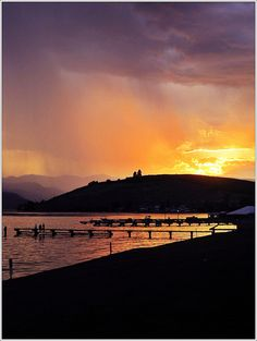 Lake Chelan during a sudden thunder & lightning storm.