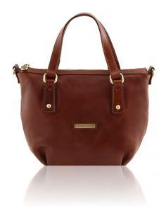 OLGA TL141483 Leather shopping bag