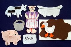 Mrs. Wishy Washy Flannel Board Felt Story Set AND story sequencing