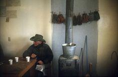 """photo by William Albert Allard. """"Ruben Welgand, Padlock calving shack, Montana, 1978"""""""