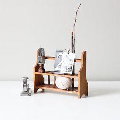 vintage Antique test tube wood rack by AM Radio. $25