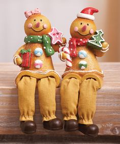 Look at this Gingerbread Shelf Sitter Figurine Set on #zulily today!