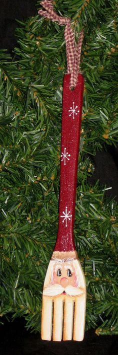 Santa wooden fork
