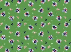 Riley Blake Country Girls Floral Cotton Green