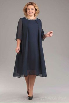 Plus Size Chiffon Mother of the Bride Dress Scoop Neck Wedding Guest Party Gowns , dresses for black women brides plus size Vestidos Plus Size, Plus Size Dresses, Plus Size Outfits, Mother Of Groom Dresses, Mothers Dresses, Mother Of The Bride Dresses Plus Size, Mom Dress, Two Piece Dress, Black Midi Dress