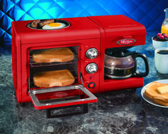 If it came in bright yellow I would be so tempted! Set this outside the T@B on a cute table...  Nostalgia Electrics Retro Series 3-in-1 Breakfast Station