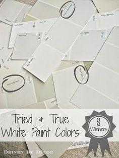 8 No-fail white paint colors - so helpful!