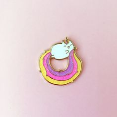 Part cat, part unicorn. Caticorns are the most magical creatures in all the land!   ♡ SPECS ♡ Quantity: 1 Size: 1.5 inch diameter  Colors might vary just a bit from your screen.   •Illustrations and original designs © Becky Helms/The Pink Samurai