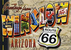 postcard - Winslow Route 66 by Jassy-50, via Flickr