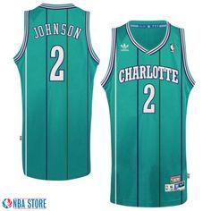 Charlotte Hornets #2 Larry Johnson Retired Player Throwback Jersey