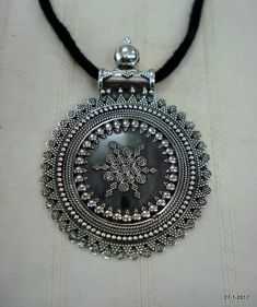 Traditional Design Sterling Silver Necklace Pendant handmade