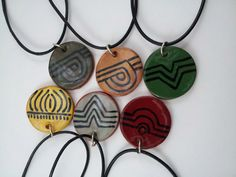 Guale inspired pendant by elizabethpottery on Etsy, $20.00