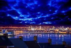 Bay Over Rooftops - Cardiff Bay looking from Penarth, South Wales, UK | Flickr - Photo Sharing!