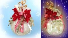 HOBBYBEL blog & youtube Holiday Ornaments, Christmas Wreaths, Christmas Bulbs, Christmas Decorations, Holiday Decor, White Christmas, Diy And Crafts, Upcycle, Recycling