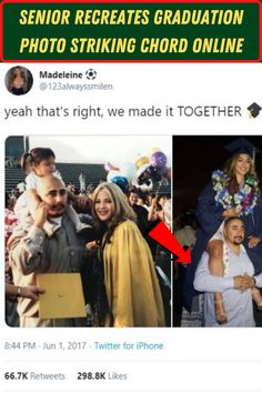 #Senior #Recreates #Graduation #Photo #Striking #Chord #Online Angelina Jolie Style, Parenting Teenagers, Graduation Photos, Chic Wedding, Wedding Heels, Couples In Love, Relationship Advice, Cute Outfits, Artsy Outfits