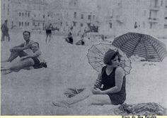Manhã de março de 1930, praia de Copacabana. Rio de Janeiro, Brasil.