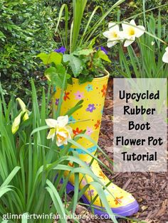 Learn how to recycle an old rubber mud boot into a flower pot that will add beauty and whimsy to your garden.