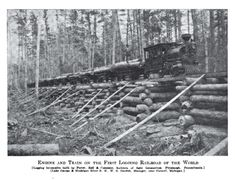 How Michigan had the First logging railroad in the world