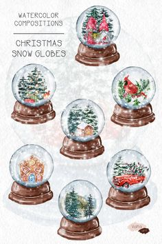 Snow Globe Kit, Christmas Snow Globes, Christmas Truck, Merry Little Christmas, Christmas Art, Christmas Graphics, Pumpkin Bouquet, Winter Clipart, Collage Drawing