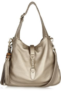 Gucci - New Jackie metallic leather shoulder bag