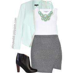 "#plus #size #plussize ""Plus Size - Office Wear"" by alexawebb on Polyvore"