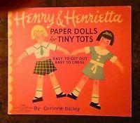 VINTAGE UNCUT HENRY & HENRIETTA PAPER DOLLS