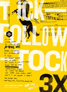 F/Nazca Saatchi & Saatchi D&AD posters. The Next series bridges the gap between the D&AD Professional Awards and New Blood programme by identifying the best new talent and promoting them back to industry. Follow the link if you want to see the rest of the posters.