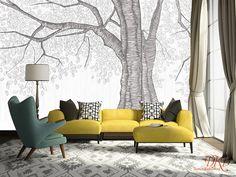 Tapeten - Tapeten-Große Banyan Baum Wandmalerei Tapete - ein Designerstück von dreamkidsdecal bei DaWanda