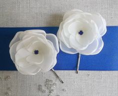 Off White Small fabric flowers in handmade Bridal by ZBaccessory, $13.00
