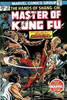 Inspiration, at least for geeks ;-)  Master of Kung Fu 20. The earliest issue I own.