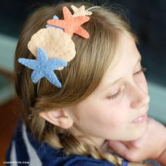 Download our template & follow our tutorial to blanket stitch your way to making this adorable DIY mermaid headband for costumes & themed birthday parties!