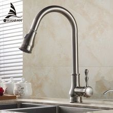 Kitchen Faucet Brass Brushed Nickel High Arch Kitchen Sink Faucet