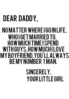 Daddy's little girl...