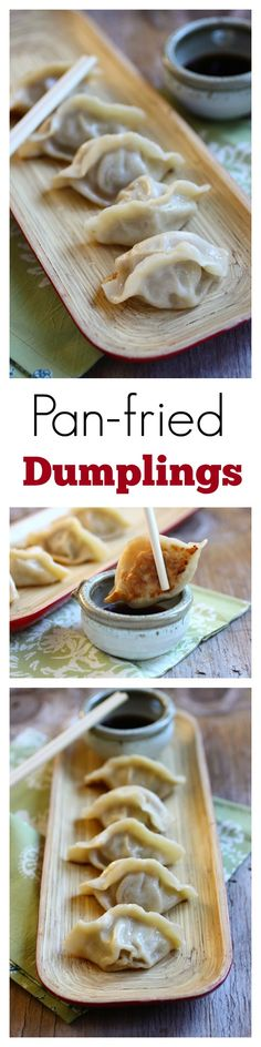 Pan-fried dumplings - the BEST and EASIEST pan-fried dumplings, homemade, easy, quick, an SO good!! | rasamalaysia.com