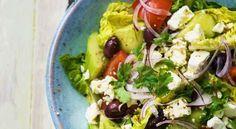 5:2 recepten, Griekse salade met oregano en munt.