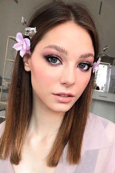 30 Spellbinding Bridesmaid Makeup For Every Woman ❤ bridesmaid makeup lentle light pink with grey eyes alyona_beauty_muah #weddingforward #wedding #bride #bridesmaidmakeup #weddingmakeup