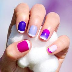 Purple pink ombre Nail Art Designs #nails www.finditforweddings.com