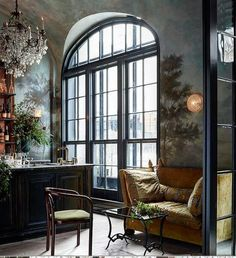 love it; Banquettes and the like Bar seating in Le Cou Cou N.Y.C. Source: Heather Robinson @lostinarles  #banquette #bar #luxury #elegant #light #living #lifestyle #elegant #murals #chairs #architecture #drinks #cocktails #chandelier #light #li#lifestyle #interior #interiordesign #interiordecor #decor #design #subtle #chic #design #seating #luxury
