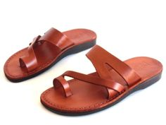 Brown Leather Sandals for women JERICHO Style  - perfect for summer
