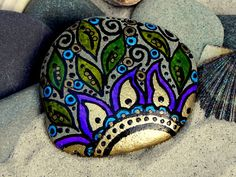 Gypsy Sunrise / Painted Rock / Sandi Pike by LoveFromCapeCod, $35.00