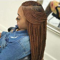 Uniqueafrican Braided Hairstyles In 2020 60 Simple and Stylish African Braid Hairstyle Black Girl Braids, Braids For Black Hair, Half Cornrows, Braided Hairstyles For Black Women Cornrows, Braided Ponytail, Crochet Braids Straight Hair, Afro Twist Braid, Hair Twists, Girls Braids