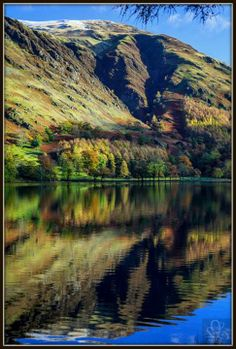 Autumn Reflections in Lake Buttermere, Lake District, Cumbria, UK Cumbria, Footprints, Lake District, United Kingdom, My Photos, England, The Unit, Autumn, Mountains