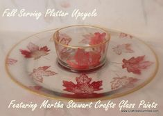 DIY Home Decor DIY Fall Serving Tray featuring Martha Stewart Crafts Glass Paints