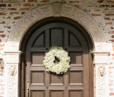 Classic Ivory Florida Wedding With A Southwestern Flair Christmas Wedding Flowers, Spanish Tile, Gypsophila, Wedding Ceremony, Ivory, Florida, Bride, Classic, Pretty