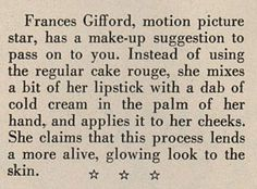 Things Your Grandmother Knew: World War II Makeup Tip