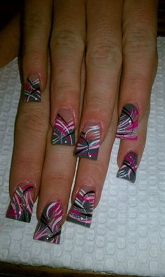 fan nails by AlysNails - Nail Art Gallery nailartgallery.nailsmag.com by Nails Magazine www.nailsmag.com #nailart