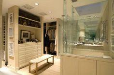 Exposed Closet Bath Combo La Dolce Vita A Fashionable Address