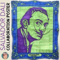 Salvador Dali Collaboration Portrait Poster. Designed to complement any Dali…
